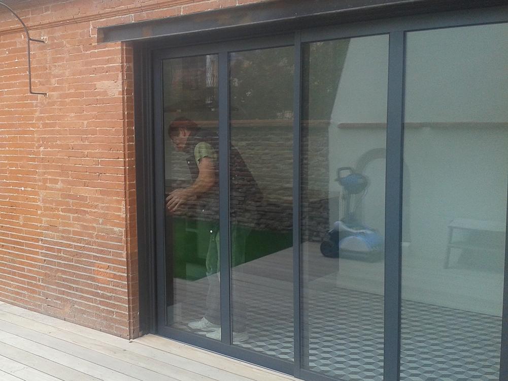 installation baie vitrée pamiers